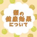 秋の味覚 梨について
